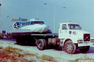 Transport du Naviplane N102-L vers la plage