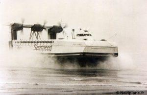 Arrivée du Naviplane N500 à Boulogne sur Mer