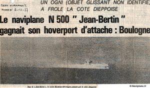 Le Naviplane N500 devant Dieppe