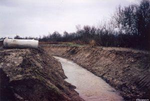 Préparation du terrain pour la construction de l'usine SEDAM