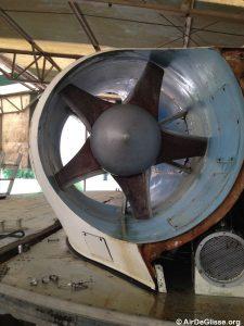 L'une des hélice de propulsion du Naviplane N102-C-3