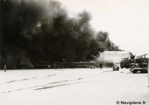 """Le N500-01 """"Côte d'Argent"""" en feu"""