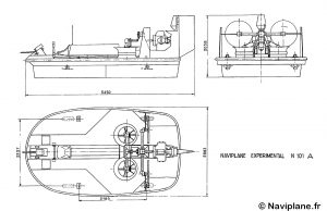 Plan 3 vues du Naviplane N101