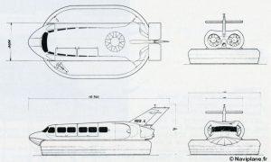 Plan 4 vues du Naviplane N102-L