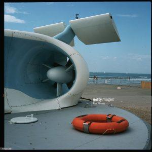 Détail du Naviplane N102 sur la plage de La Grande Motte
