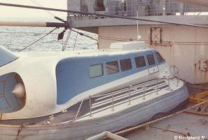 Le Naviplane N102-L à bord du Neubrandenburg
