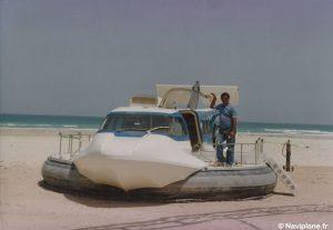 Le Naviplane N102-L sur la plage de Sharjah