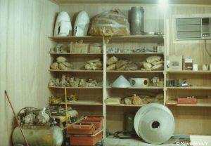 Intérieur de l'atelier de maintenance