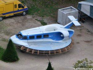 Le Naviplane N102-C-3 en cours de restauration