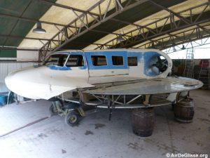 Le Naviplane N102-C-3 prêt à être restauré.