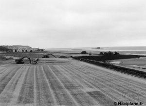 Construction de la piste de l'Hoverport