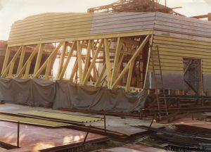 Construction du château arrière d'un Naviplane N500
