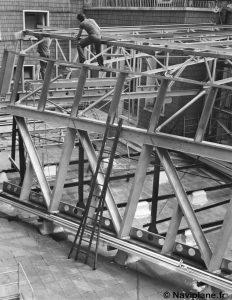 Construction du château avant d'un Naviplane N500
