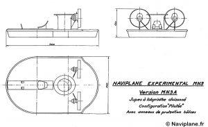 Plan 3 vues de la Maquette Navigante MN3A