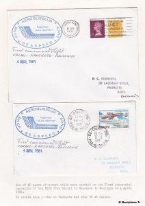 Premier vol entre Calais, Ramsgate et Boulogne le 4 avril 1981