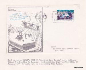 Convoyage du Naviplane N500 : Enveloppe Premier Jour