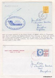 Vol d'essai sur La Manche en mars 1978.