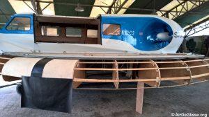 La structure en bois et l'essai de jupe